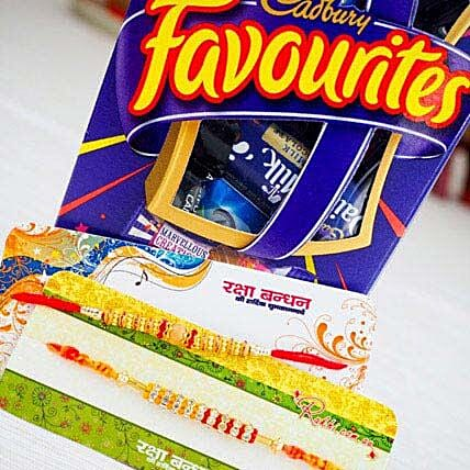 Pavitra Rishta Two Rakhi Set with Cadbury Favourite