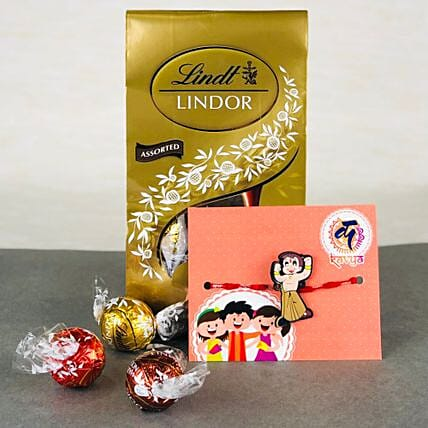 Pyar Ka Rista Rakhi With Lindt chocolates