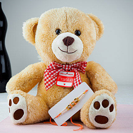 Pyare Bhaiya Rakhi With Teddy Bear