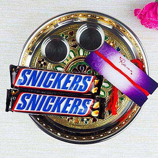 Snickers In Meenakari Thali