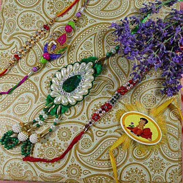 Amazing Colorful Family Rakhi Set