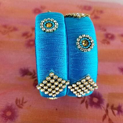 Attractive Bangles Set Blue