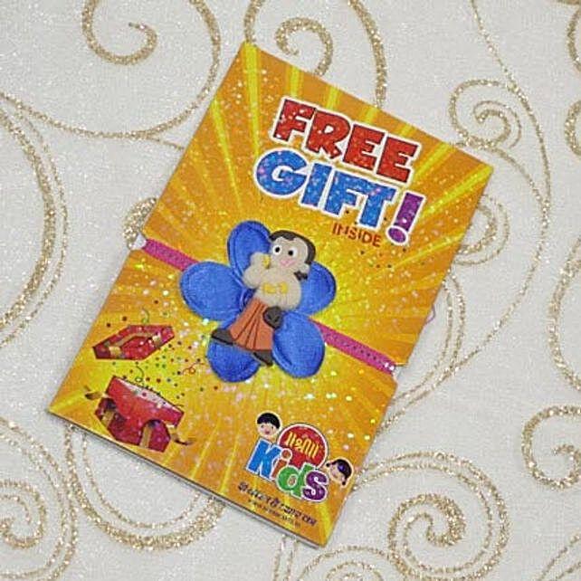 Chota Bheem Flower Rakhi With Free Gift