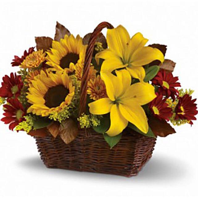 Golden Flower Basket