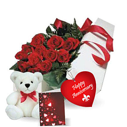 Rose Gift Box N Teddy