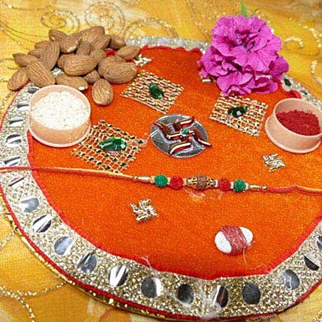 Rudraksh Rakhi Thali With Almond