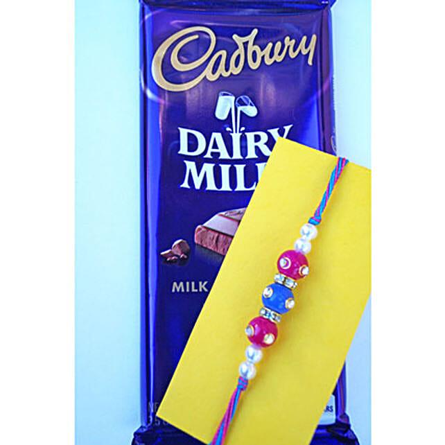 Triple beads Rakhi N Chocolate