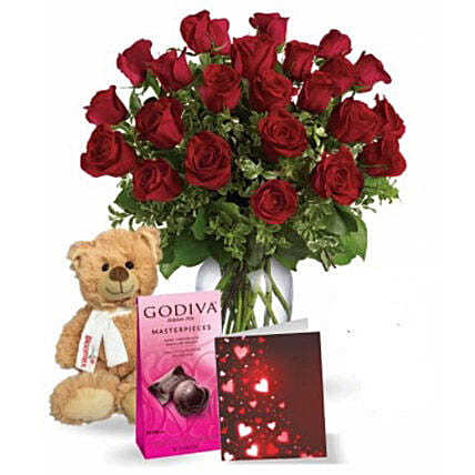 Two Dozen Red Roses Combo