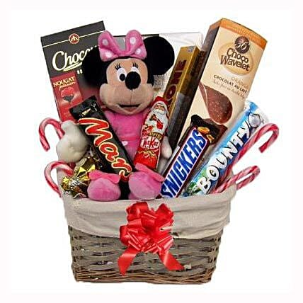 Christmas With Minnie Mouse Gift Basket