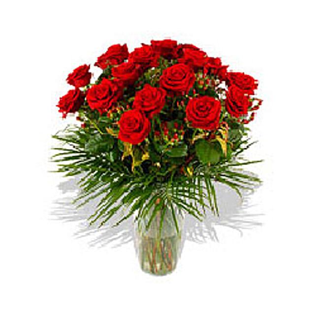 Two Dozen Roses N Free VASE