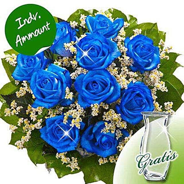 10 blue roses