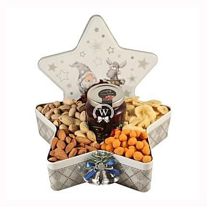 Christmas Star with Nuts