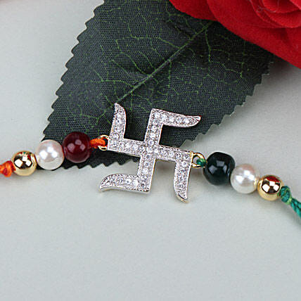 Swastik Beauty American Diamond Rakhi ISR