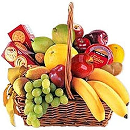 Cheese Crackers n Fruit Basket jor