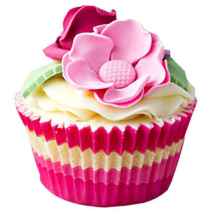 12 Pink Flower Cupcakes by FNP
