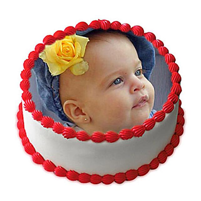 1kg Vanilla Photo Cake by FNP