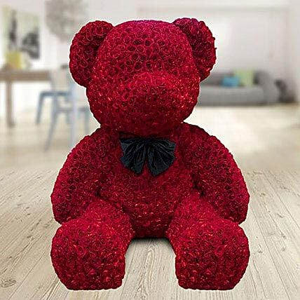 Teddy Red Roses Arrangement