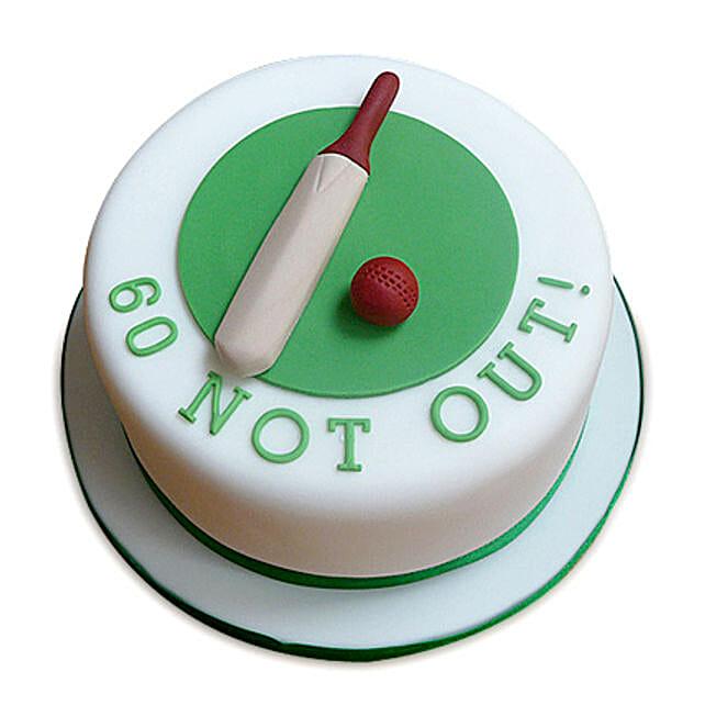 60 Not Out Designer Cake 3kg Eggless Butterscotch