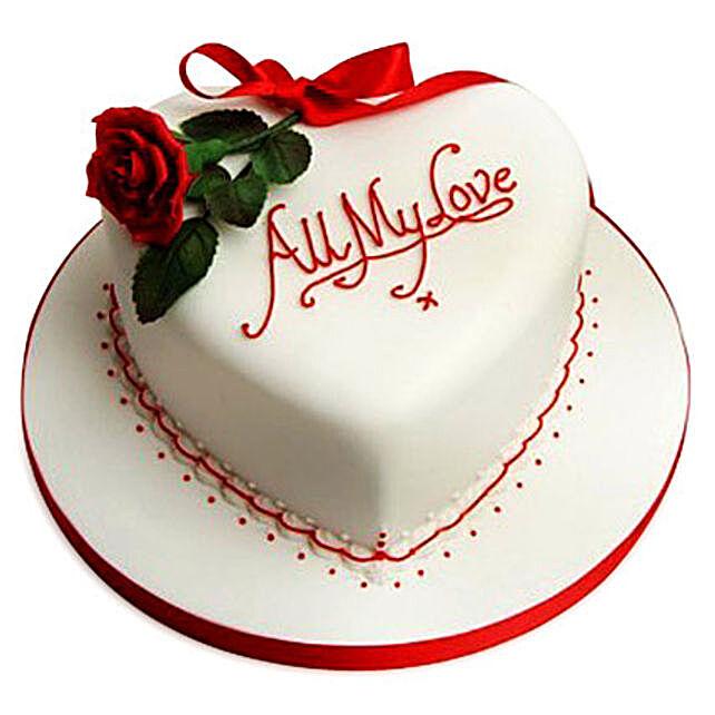 All My Love Cake 3kg Eggless Vanilla