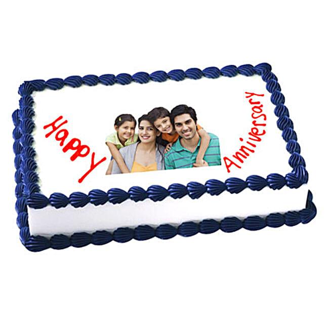 Anniversary Photo Cake 2kg Vanilla