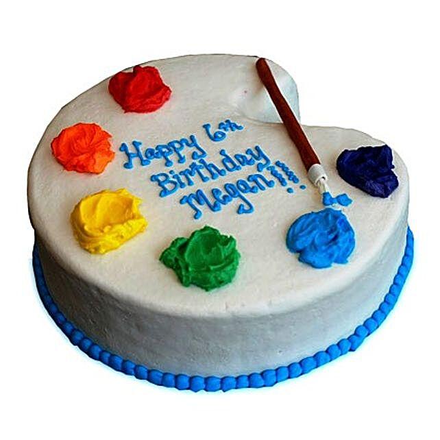 Artist Birthday Cake 2kg Eggless Butterscotch