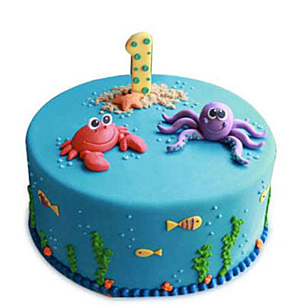 Baby Sea Animals Cake 2kg Black Forest