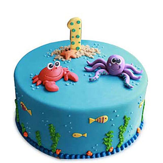 Baby Sea Animals Cake 3kg Butterscotch