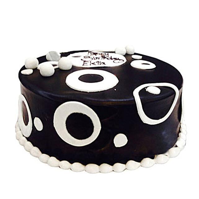 Black and White Cake 1kg Eggless