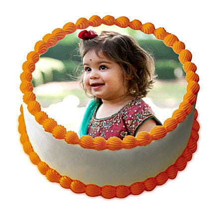 Butterscotch Photo Cake 3kg Eggless