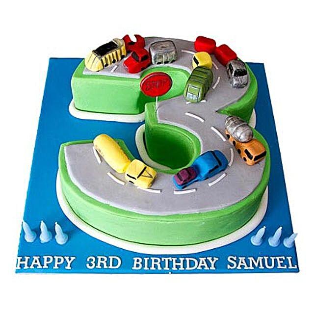 Cars Birthday Cake 2kg Vanilla