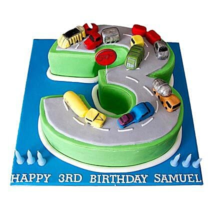 Cars Birthday Cake 4kg Eggless Butterscotch