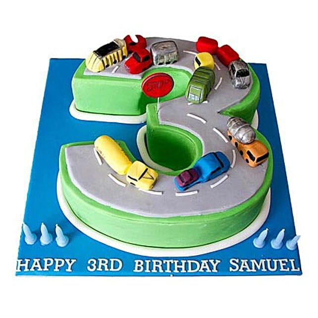 Cars Birthday Cake 4kg Eggless Vanilla