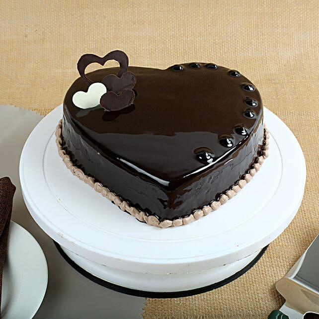 Chocolate Hearts Cake 1kg Gift Choco Heart Cake 1kg