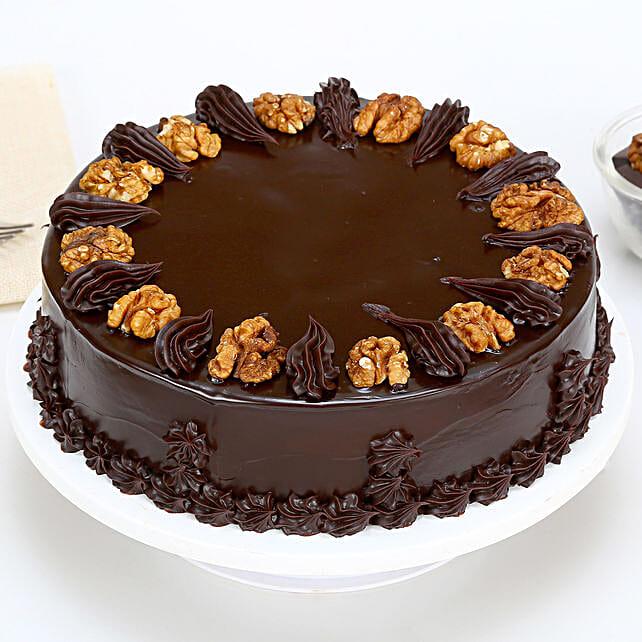 Chocolate Walnut Cake Half kg Eggless