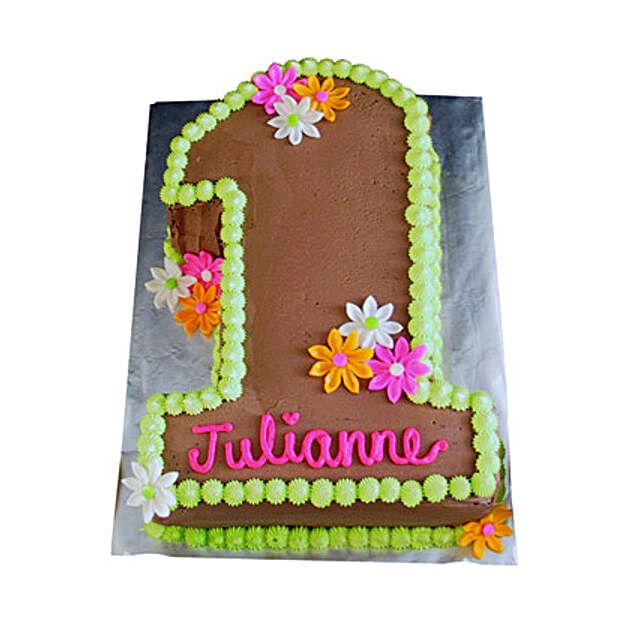 Chocolaty 1st Birthday Cake 2kg Eggless Black Forest