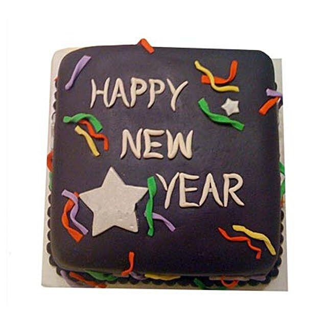 Chocolaty New Year Cake 2kg Eggless
