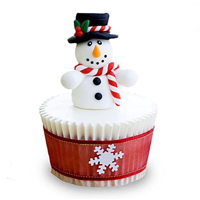 Christmas Snowman Cupcakes 24