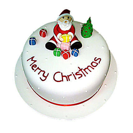 Christmas with Santa Cake 2kg Eggless