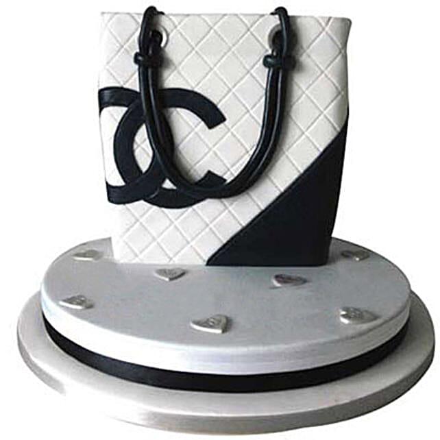 Classy Chanel Bag Cake 5kg Eggless Chocolate