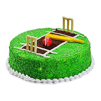 Cricket Pitch Cake 2kg Eggless Vanilla