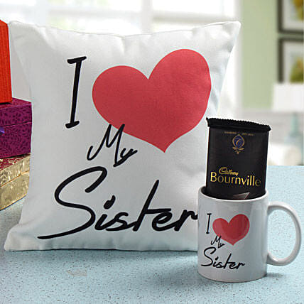 Rakhi gifts for sisters rakhi gift ideas for sisters ferns n deep sister love with roli chawal negle Images