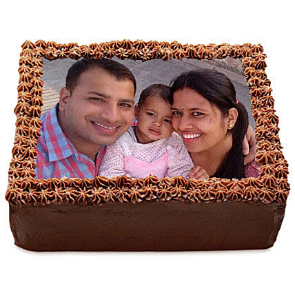 Delicious Chocolate Photo Cake 2kg Eggless