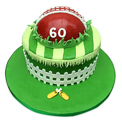 Designer Cricket Fever Cake 3kg Chocolate