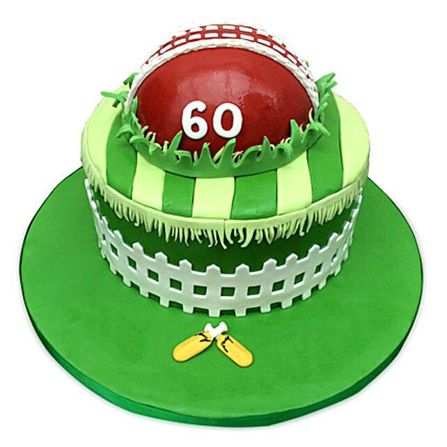 Designer Cricket Fever Cake 4kg Black Forest