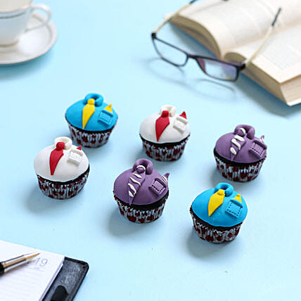 Designer Cupcakes For Dad 12 Eggless