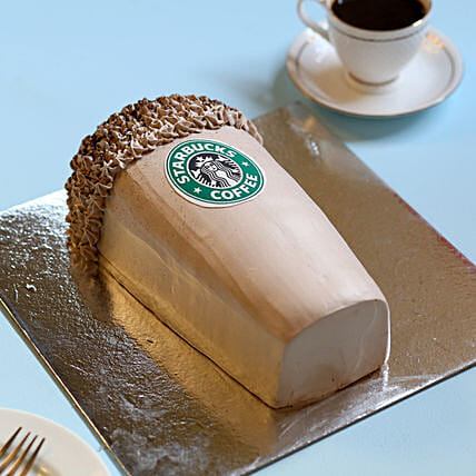 Designer Starbucks Cake 4Kg Eggless Chocolate