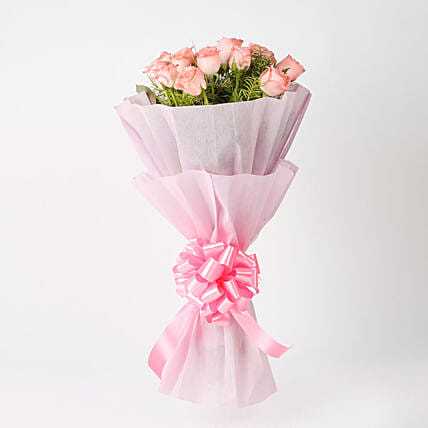 Gifts for girlfriend romantic gift ideas for girlfriend ferns n elegance pink roses bouquet gifts for girlfriend negle Images