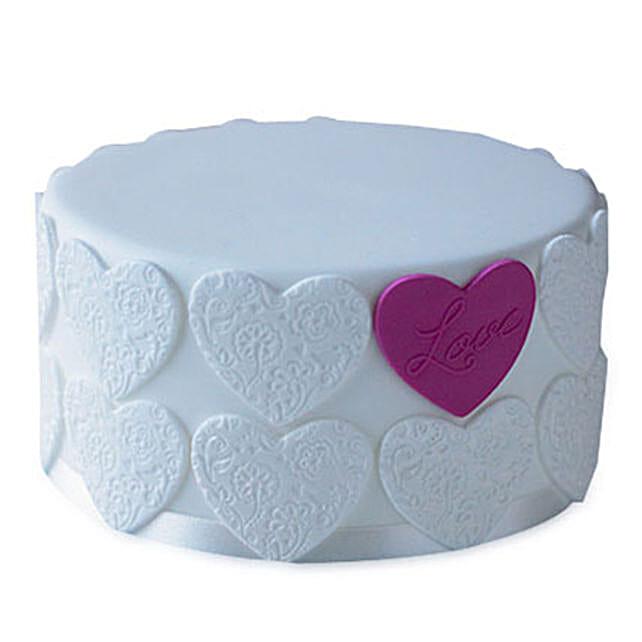 Elegant Love Cake 3kg Eggless Vanilla