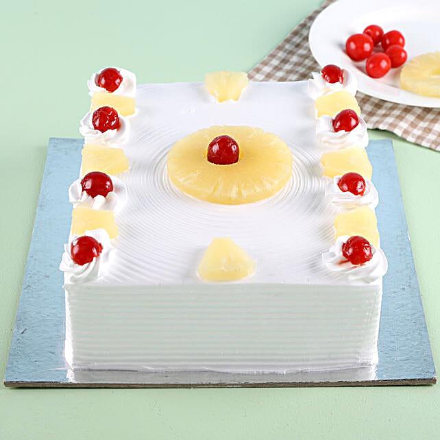 Exotic Pineapple Cake Half kg Eggless