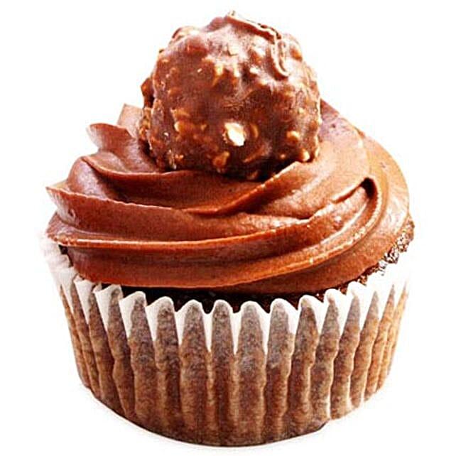 Ferrero Rocher Cupcakes 12 Eggless